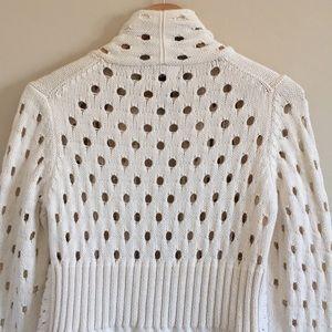 PURE Handknit Sweaters - Pure Handknit OpenWeave Waterfall Cardigan Sweater